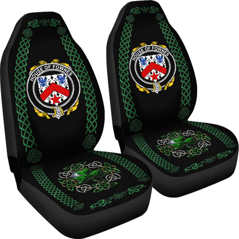 Fownes Ireland Shamrock Celtic Irish Surname Car Seat Covers TH7
