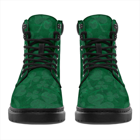 Irish All Season Boots, Boulger or O'Bolger Family Crest Shamrock 6-inch Boots