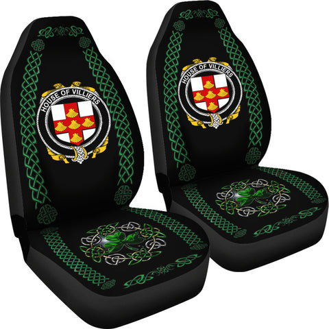 Villiers Ireland Shamrock Celtic Irish Surname Car Seat Covers TH7