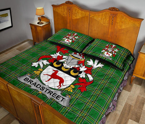 Bradstreet Ireland Quilt Bed Set Irish National Tartan | Over 1400 Crests | Home Set | Bedding Set