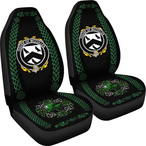Cullen or McCullen Ireland Shamrock Celtic Irish Surname Car Seat Covers TH7