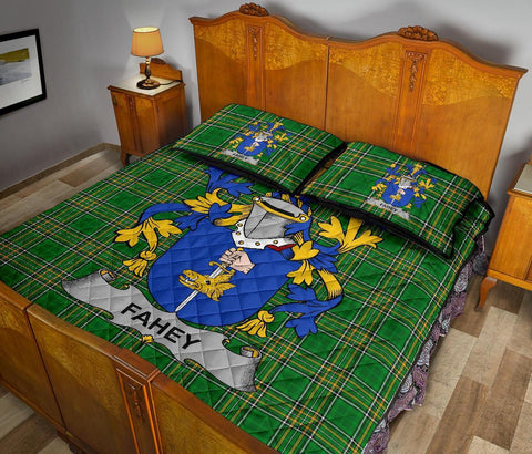 Image of Fahey or O'Fahy Ireland Quilt Bed Set Irish National Tartan | Over 1400 Crests | Home Set | Bedding Set