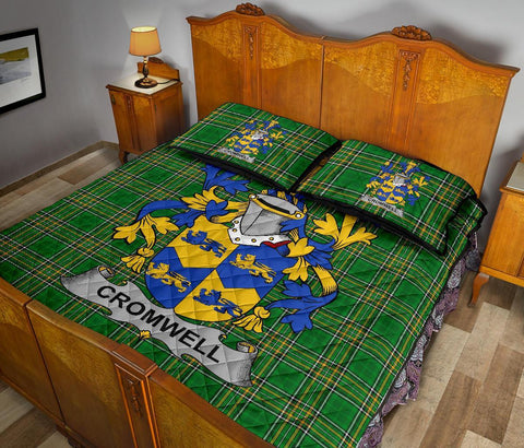 Cromwell Ireland Quilt Bed Set Irish National Tartan | Over 1400 Crests | Home Set | Bedding Set