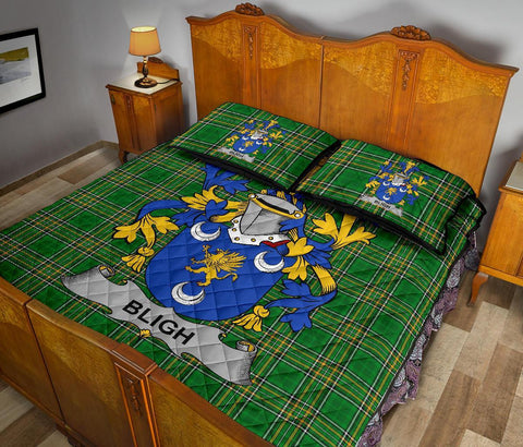 Image of Bligh Ireland Quilt Bed Set Irish National Tartan | Over 1400 Crests | Home Set | Bedding Set