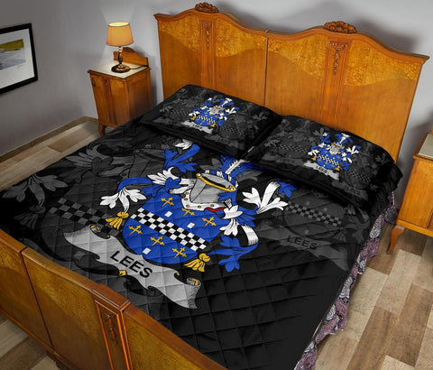 Irish Quilt Bed Set, Lees or McAleese Family Crest Premium Quilt And Pillow Cover A7