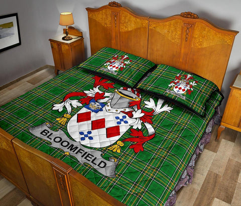 Bloomfield Ireland Quilt Bed Set Irish National Tartan | Over 1400 Crests | Home Set | Bedding Set