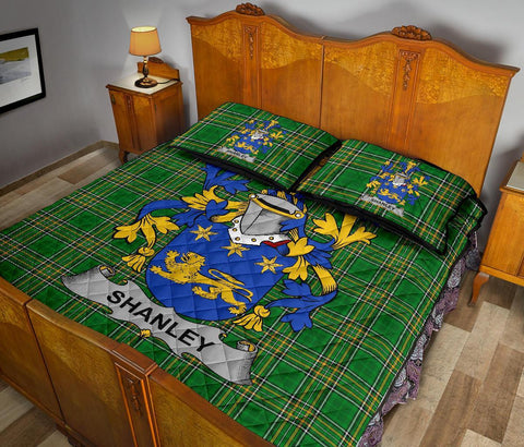 Shanley or McShanly Ireland Quilt Bed Set Irish National Tartan | Over 1400 Crests | Home Set | Bedding Set
