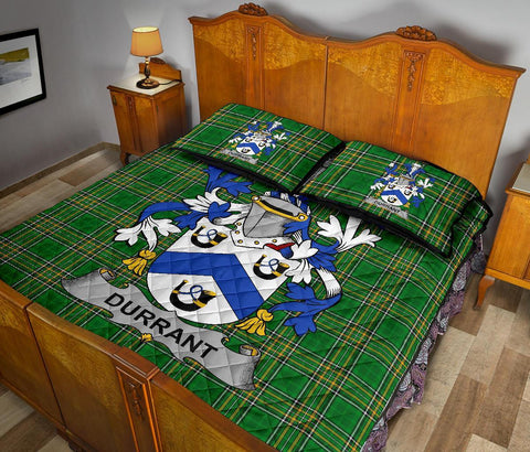 Durrant Ireland Quilt Bed Set Irish National Tartan | Over 1400 Crests | Home Set | Bedding Set
