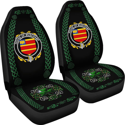 Image of Muschamp Ireland Shamrock Celtic Irish Surname Car Seat Covers TH7
