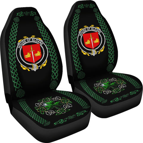 Sloane Ireland Shamrock Celtic Irish Surname Car Seat Covers TH7