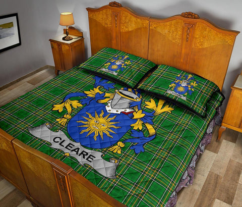 Cleare Ireland Quilt Bed Set Irish National Tartan | Over 1400 Crests | Home Set | Bedding Set