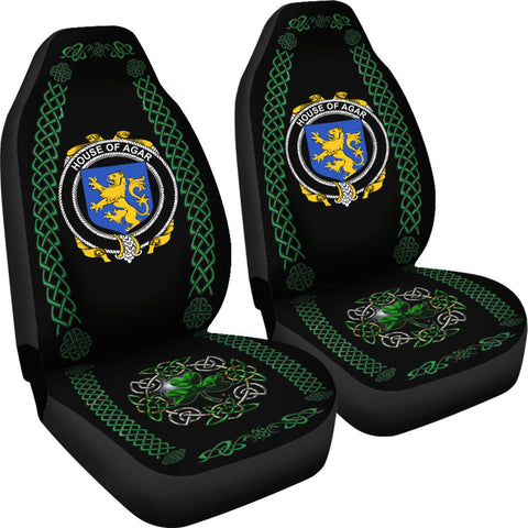 Agar Ireland Shamrock Celtic Irish Surname Car Seat Covers TH7