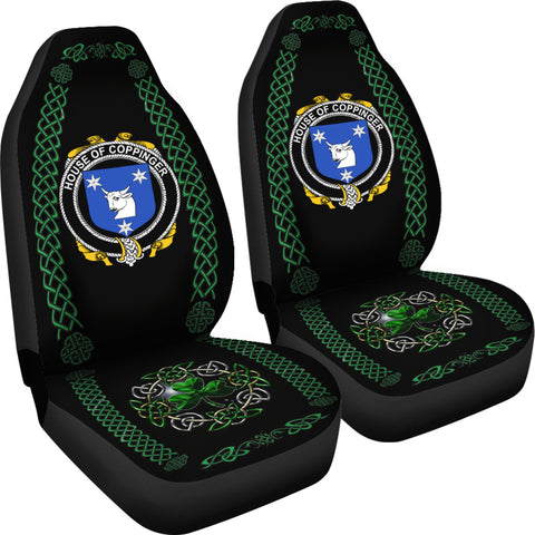 Coppinger Ireland Shamrock Celtic Irish Surname Car Seat Covers TH7