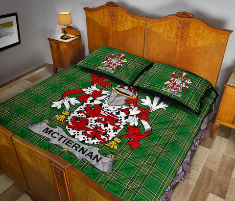 McTiernan or Kiernan Ireland Quilt Bed Set Irish National Tartan | Over 1400 Crests | Home Set | Bedding Set