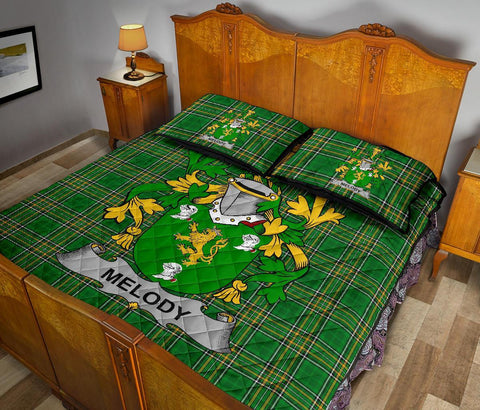 Melody or O'Moledy Ireland Quilt Bed Set Irish National Tartan | Over 1400 Crests | Home Set | Bedding Set