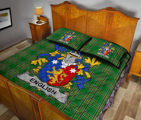 English Ireland Quilt Bed Set Irish National Tartan | Over 1400 Crests | Home Set | Bedding Set