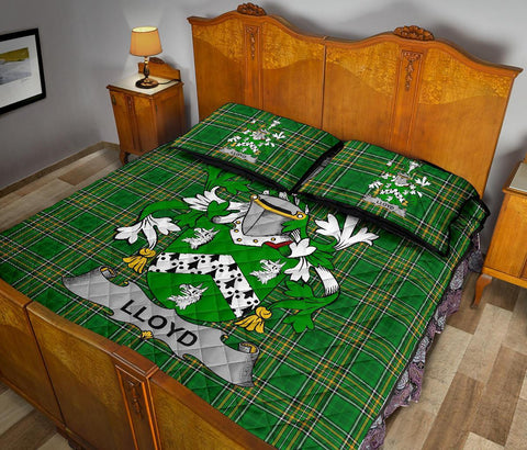 Lloyd Ireland Quilt Bed Set Irish National Tartan | Over 1400 Crests | Home Set | Bedding Set