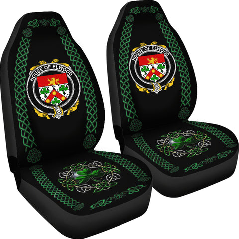 Image of Elwood Ireland Shamrock Celtic Irish Surname Car Seat Covers TH7