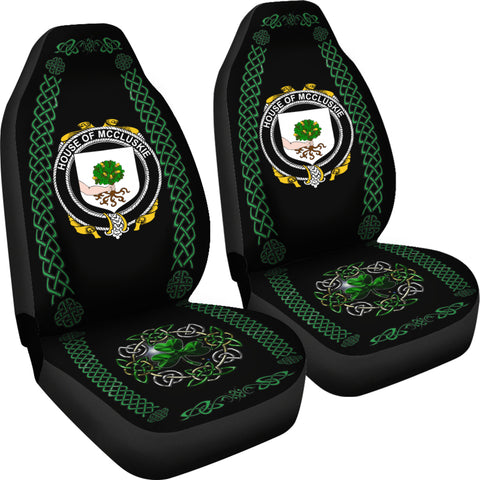 McCluskie or McCloskie Ireland Shamrock Celtic Irish Surname Car Seat Covers TH7