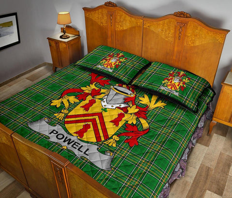 Image of Powell Ireland Quilt Bed Set Irish National Tartan | Over 1400 Crests | Home Set | Bedding Set