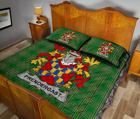 Prendergast Ireland Quilt Bed Set Irish National Tartan | Over 1400 Crests | Home Set | Bedding Set