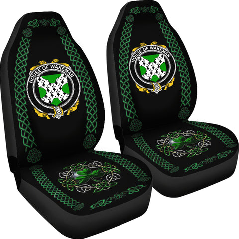 Wakeman Ireland Shamrock Celtic Irish Surname Car Seat Covers TH7