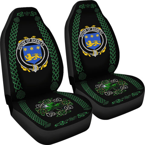 Shanley or McShanly Ireland Shamrock Celtic Irish Surname Car Seat Covers TH7