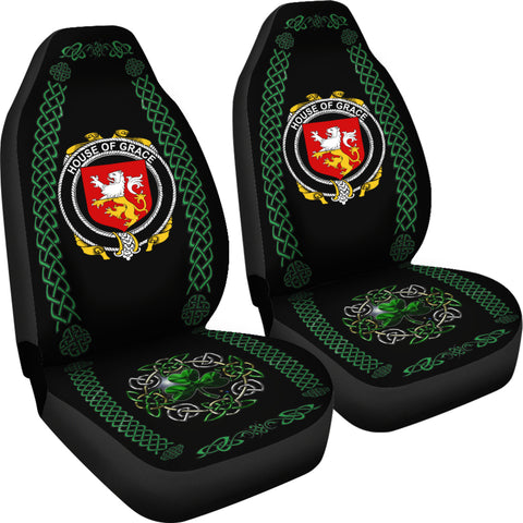 Grace Ireland Shamrock Celtic Irish Surname Car Seat Covers TH7