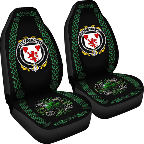 Truell Ireland Shamrock Celtic Irish Surname Car Seat Covers TH7