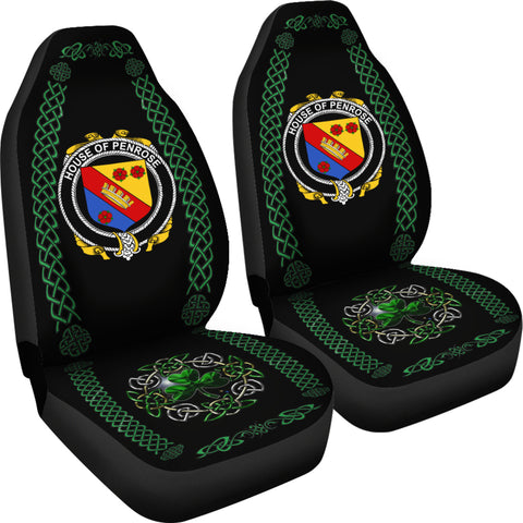 Penrose Ireland Shamrock Celtic Irish Surname Car Seat Covers TH7