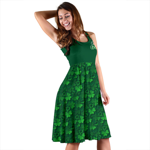 Image of Ireland Women's Dress Pattern Shamrock St. Patrick's Day