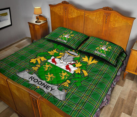 Rooney or  O'Rooney Ireland Quilt Bed Set Irish National Tartan | Over 1400 Crests | Home Set | Bedding Set