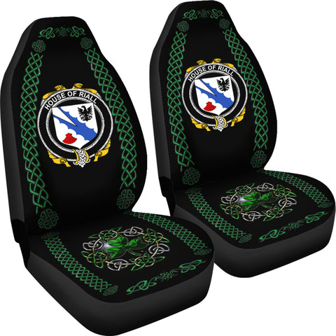 Riall or Ryle Ireland Shamrock Celtic Irish Surname Car Seat Covers TH7