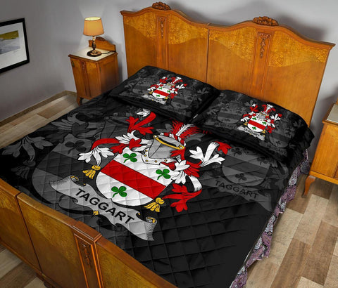 Irish Quilt Bed Set, Taggart or McEntaggart Family Crest Premium Quilt And Pillow Cover A7