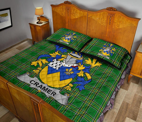 Cramer Ireland Quilt Bed Set Irish National Tartan | Over 1400 Crests | Home Set | Bedding Set