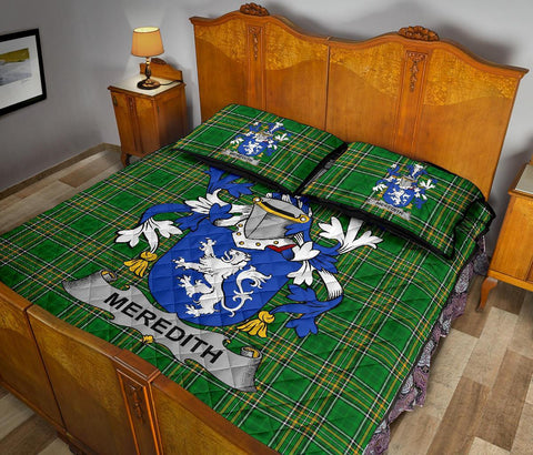Meredith Ireland Quilt Bed Set Irish National Tartan | Over 1400 Crests | Home Set | Bedding Set