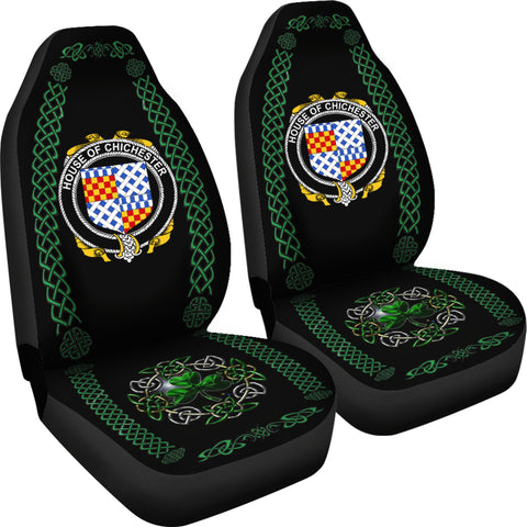 Image of Chichester Ireland Shamrock Celtic Irish Surname Car Seat Covers TH7