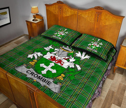 Crombie Ireland Quilt Bed Set Irish National Tartan | Over 1400 Crests | Home Set | Bedding Set