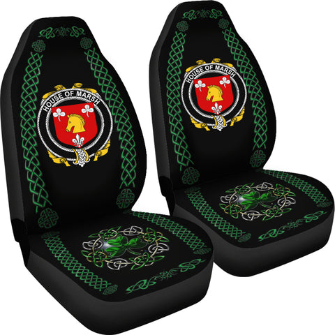 Image of Marsh Ireland Shamrock Celtic Irish Surname Car Seat Covers TH7
