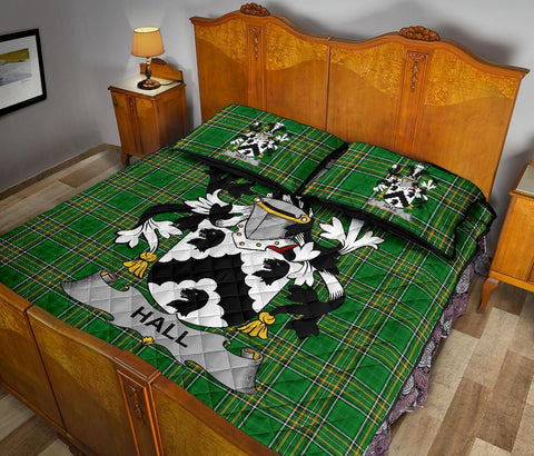 Image of Hall or MacHall Ireland Quilt Bed Set Irish National Tartan | Over 1400 Crests | Home Set | Bedding Set