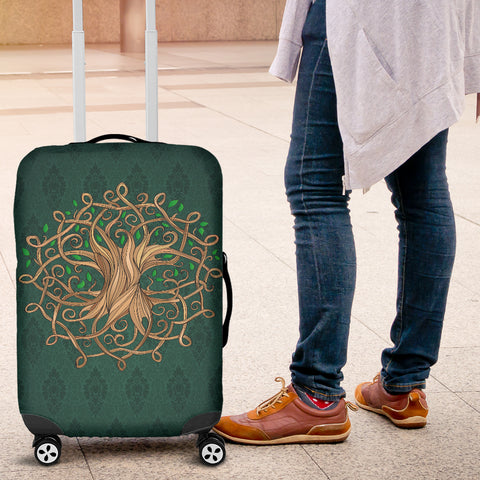 Celtic Tree Luggage Cover Luxurious
