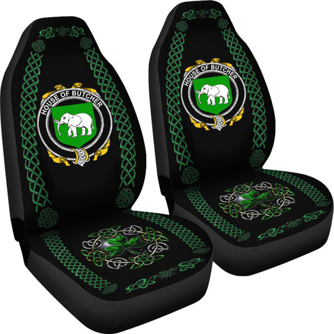Butcher Ireland Shamrock Celtic Irish Surname Car Seat Covers TH7