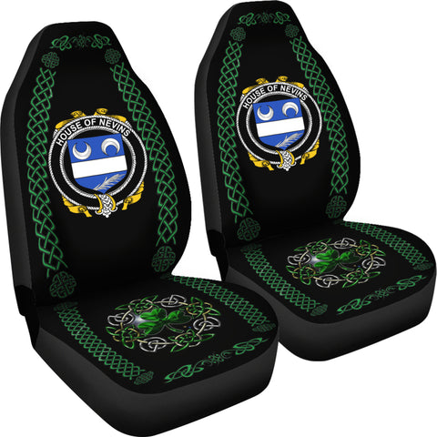 Nevins or McNevins Ireland Shamrock Celtic Irish Surname Car Seat Covers TH7