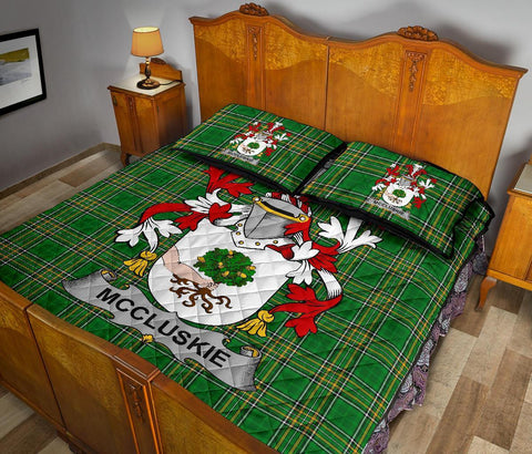 McCluskie or McCloskie Ireland Quilt Bed Set Irish National Tartan | Over 1400 Crests | Home Set | Bedding Set
