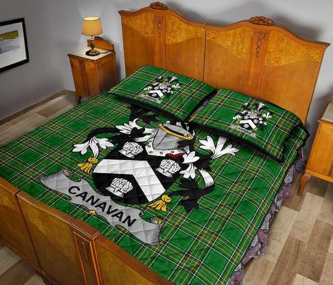 Canavan or O'Canavan Ireland Quilt Bed Set Irish National Tartan | Over 1400 Crests | Home Set | Bedding Set