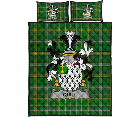 Image of Quill Ireland Quilt Bed Set Irish National Tartan | Over 1400 Crests | Home Set | Bedding Set