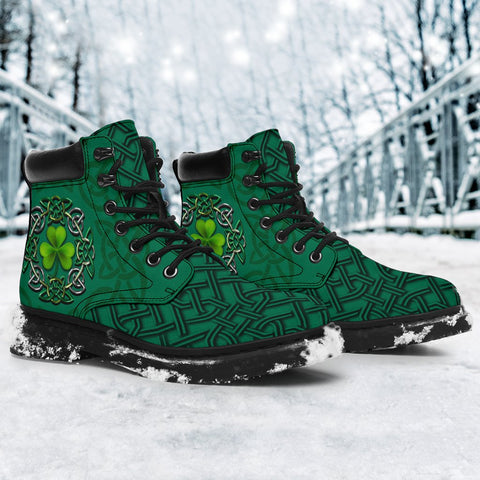 Irish St Patrick's Day Boots, Ireland Celtic Clover All Season Boots 2
