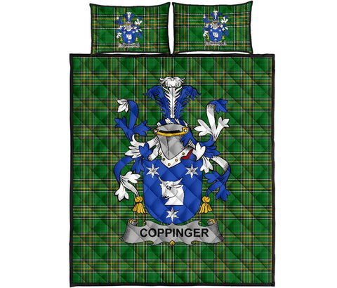 Coppinger Ireland Quilt Bed Set Irish National Tartan | Over 1400 Crests | Home Set | Bedding Set