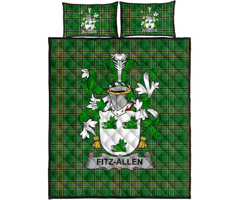 Fitz-Allen Ireland Quilt Bed Set Irish National Tartan | Over 1400 Crests | Home Set | Bedding Set