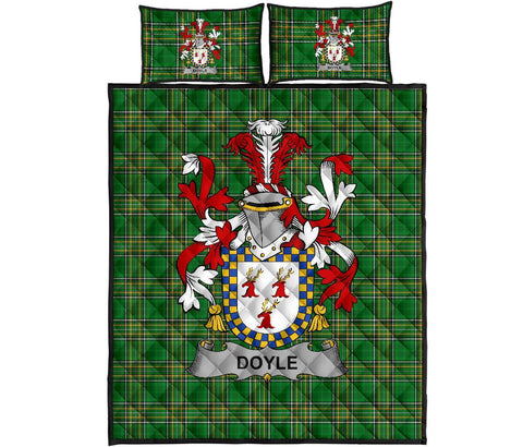 Doyle or O'Doyle Ireland Quilt Bed Set Irish National Tartan | Over 1400 Crests | Home Set | Bedding Set